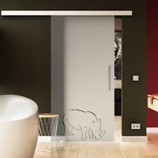 glasschiebetür nashorn design wohnzimmer esszimmer komplett exklusiv glaslager de