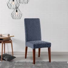 Sure Fit Dining Chair Slipcovers by Sure Fit Stretch Jacquard Damask Dining Room Chair Slipcover