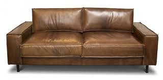 casa padrino vintage luxus echtleder lounge sofa braun 185
