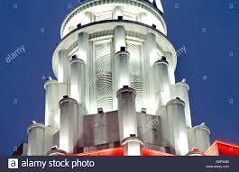 100 Art Deco Architecture Paris France Rex Movie Theater Top Lit Up