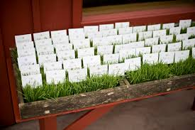 Rustic Idea For Place Cards A Wedding