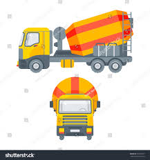 100 Concrete Truck Delivery Stock Vector Isolated Cement Mixer Stock Vector Royalty