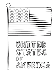 Flag Coloring Page American