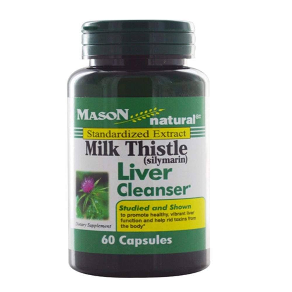 Mason Natural Milk Thistle Liver Cleanser - 60 Capsules