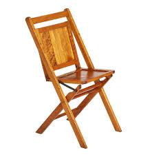Folding Wooden Chair W/ Light Finish
