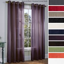 Crushed Voile Curtains Grommet by Coffee Tables Royal Velvet Crushed Voile Scarf Valance Kohl U0027s