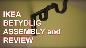 Telescopic Curtain Rod Ikea by Ikea Betydlig Double Rod Assembly And Review Youtube