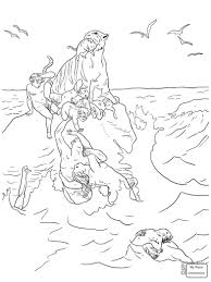 The Great Flood Christianity Bible Noahs Ark Coloring Pages