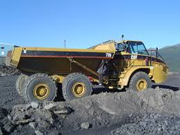 100 Rock Truck Caterpillar 735 Articulated Kode Contracting Ltd