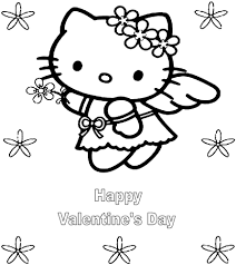 View Larger Hello Kitty Valentine Day Coloring Pages Coloringsuitecom