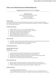 Clerical Resume Sample Office Assistant Entry Level