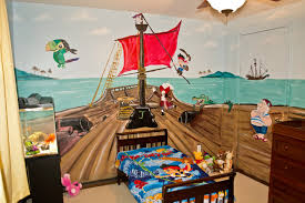 jake and the neverland pirates kids room mural traditional