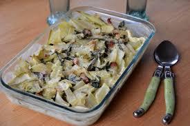 paruline en cuisine gratin de blettes bettes et lardons au fil du thym