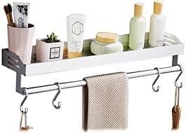 handtuchhalter aluminium badezimmer regal gelocht wand