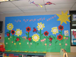 And December Back To School Hand Flower Art Teacher Spring Flowers Bulletin Board Ideas