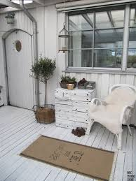 French Country Cottage Decorating Ideas by Outside Porch White Grey Black Chippy Shabby Chic
