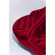 canapé 160 cm canapé rond en tissu élégant et raffiné boudoir kare