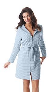 robe de chambre avec fermeture eclair femmes souple fermeture eclair court raye robe de chambre peignoir