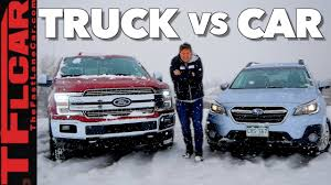 100 Cars Vs Trucks Truck Or Car Whats Better In The Snow YouTube