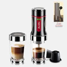 Italy Barsetto Portable Hand Press Coffee Maker Capsule Bottle