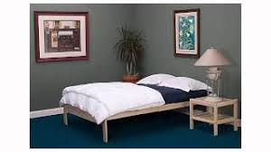 Buy Nomad Solid Hardwood Platform Bed Frame Queen Size in Cheap