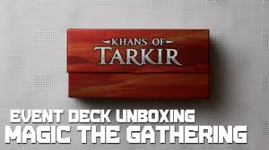 khans of tarkir event deck unboxing magic the gathering youtube