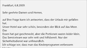 Deutsch Lernen B1 Prüfung Brief Übungen YouTube