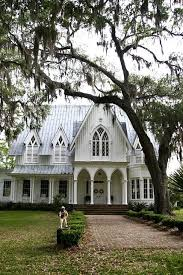Rose Hill Cottage Is A Gothic Revival Plantation In South CarolinaThe Asymmetrical Composition Picturesque Roof Line And Tall Proportions Of The House Are