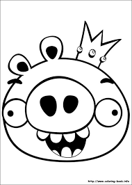 Angry Birds Coloring Pages On Book