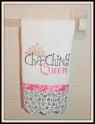 Cha Ching Queen Kitchen Towel Ka Tea Etsy Store Owner Decor Cash Register Sound