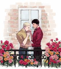 So Ill Take The Opportunity To Post This ReiBert Commission For Lovely Kelsey A Romantic Surrounded By Flowers On Their Balcony