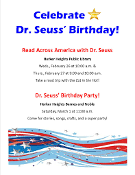 Celebrate Dr. Seuss' Birthday! Friends And Family Learning Space Grand Opening Wednesday March Recent Blog Posts Page 6 Dentist Near Me Contact Us Heights Dental Center Mark Our Mini Monster Mash Library Escape Room In Your Padawans Gather For Star Wars Reads Program At A Library Not So Dive In Tonight The Carl Levin Outdoor Pool Supheroes Fly Storytime Barnes Noble Local Signed Edition Books Black Friday Epublishing Workshop Saturday August 5 2017 200pm Sign Dr Seusss Wacky World Feb 28th Lisa Youngblood