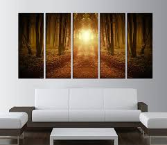 Tree Wanelo Large Wall Art Forest Print Canvas Sunset Rustic Industrial Modern Stylish Textured Painting Fluid