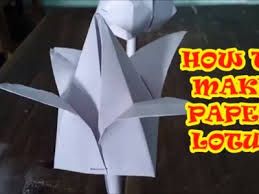 HOW TO MAKE PAPER LOTUS In 4 Minutes