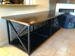 Coffee Table Kennel Large Dog Crate Cage End Extra Wood Cover Ideas Kennels