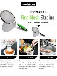 Oxo Over The Sink Colander by Amazon Com Magiküchen 8 Inch Colander Fine Mesh Stainless Steel