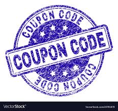 Scratched Textured Coupon Code Stamp Seal Vector Image
