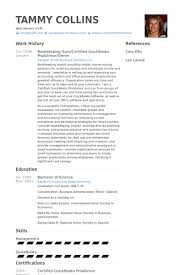 Bookkeeping Guru Certified Quickbooks Proadvisor Owner Resume Example