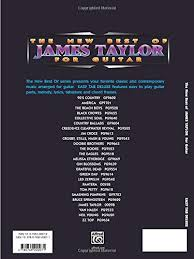 Smashing Pumpkins Tonight Tonight Tab by Amazon Com The New Best Of James Taylor For Guitar Easy Tab