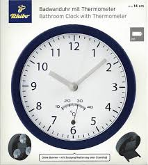 tcm tchibo badwanduhr mit thermometer wanduhr baduhr