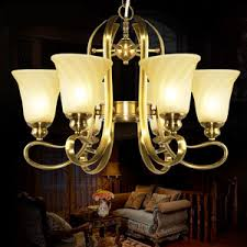 Good Quality 6 Light Glass Shade Dining Room Chandeliers