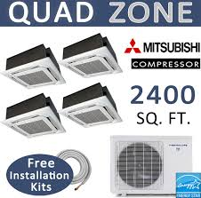 Ceiling Cassette Mini Split by Fine Ductless Mini Split Ceiling Recessed Features In Inspiration