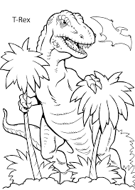 Download Coloring Pages Printable Dinosaur T Rex For Kids