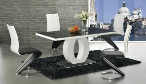 100 White Gloss Extending Dining Table And Chairs White Gloss Dining Table Palabravivaco