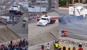 This Semi Truck Jumping 166 Feet Is The Most American Thing You'll ...