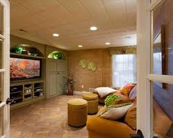 Cheap Diy Basement Ceiling Ideas by The Impression Exposed Low Basement Ceiling And Spraypainted