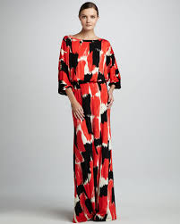 rachel pally aurora print maxi dress in red lyst