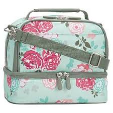 Gear Up Pool Garden Party Floral Dual Compartment Lunch Bag