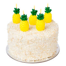 Sunnylife Set 5 Pineapple Pick Candles Pineapple Cake Candle