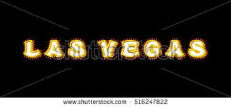 las vegas sign glowing lights retro stock vector 516247822